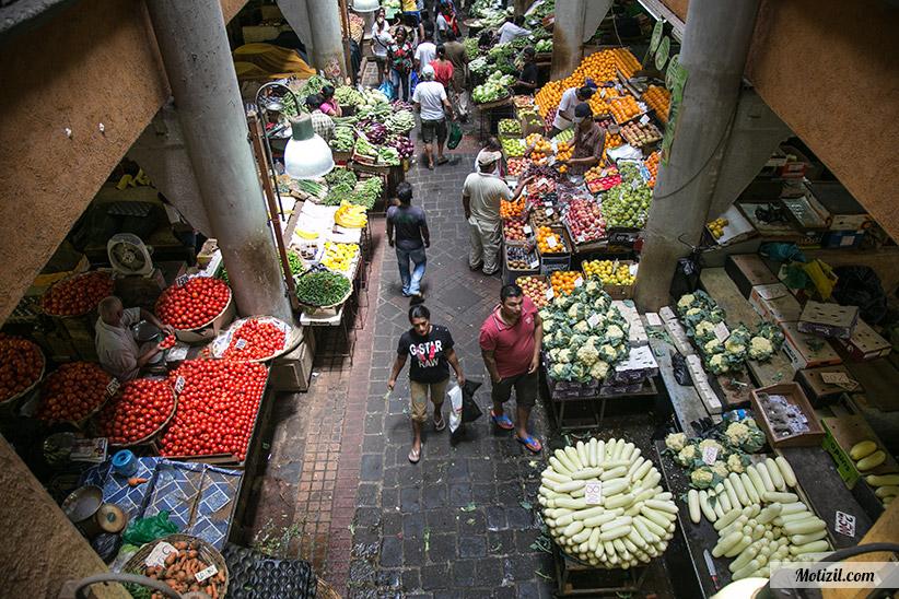 Visite du marché de Port Louis